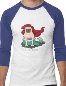The Little Mer-Pug Men's Baseball ¾ T-Shirt
