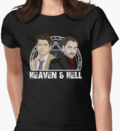 Heaven and Hell Womens Fitted T-Shirt