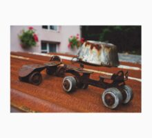 Rusty Old Roller Skates and Tin Bath Kids Clothes