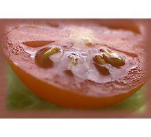 Sliced Tomato Photographic Print