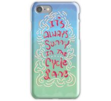 It's Always Sunny in The Cycle Lane iPhone Case/Skin