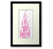 Pink Fairy Princess Castle Framed Print