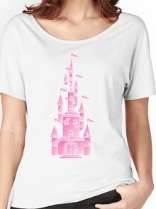 Pink Fairy Princess Castle Women's Relaxed Fit T-Shirt