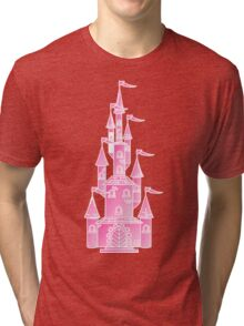 Pink Fairy Princess Castle Tri-blend T-Shirt