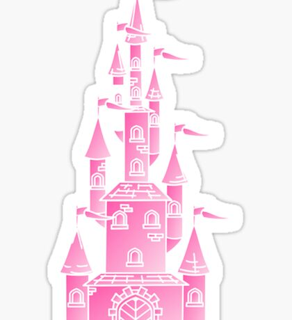 Pink Fairy Princess Castle Sticker
