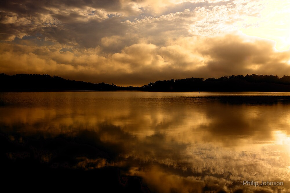 Golden Chalice - Narrabeen Lakes,Sydney -The HDR Experience by Philip Johnson