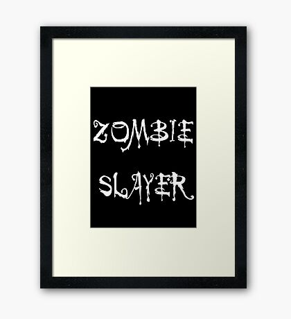 'Zombie Slayer' by Chillee Wilson Framed Print