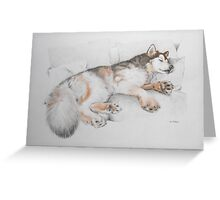 What an Alaskan Malamute Does Best Greeting Card