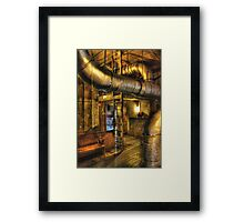SteamPunk - Where the pipes go Framed Print