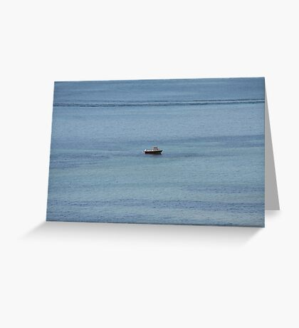 Lonely Boat Greeting Card