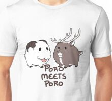 Poro Meets Poro with text Unisex T-Shirt