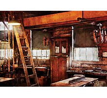 Woodworker - Old Workshop Photographic Print