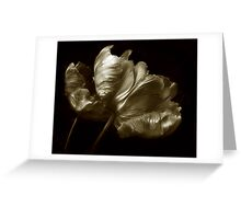 Tulips in Sepia Greeting Card