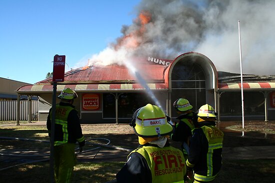 Hungry Jacks Fire Albury by John Vandeven
