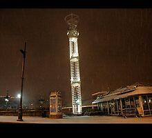 Light Snow in Downtown Atlanta by Faith Swift