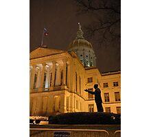 Light Snow in Downtown Atlanta Photographic Print