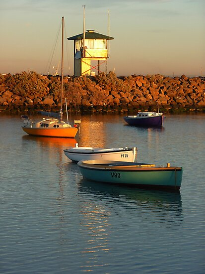 Modest Tubs at Sunup, St Kilda by Georgie Hart