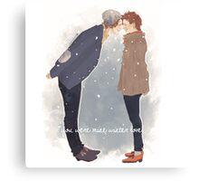 Mine,winter love Canvas Print