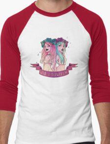 Wild Flowers  Men's Baseball ¾ T-Shirt