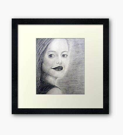 Graphite Pencil Portrait - Charming Framed Print
