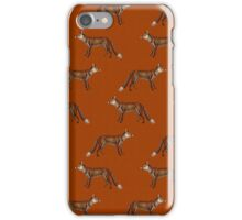 Mr Fox on Russet Red iPhone Case/Skin