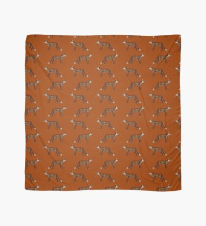 Mr Fox on Russet Red Scarf