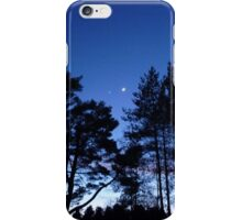 Silhouetted trees iPhone Case/Skin