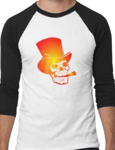 Skull in Top Hat by Chillee Wilson Men's Baseball ¾ T-Shirt