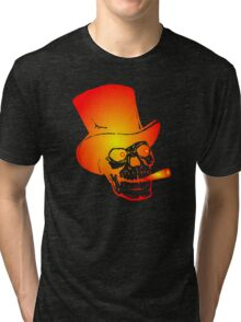 Skull in Top Hat by Chillee Wilson Tri-blend T-Shirt