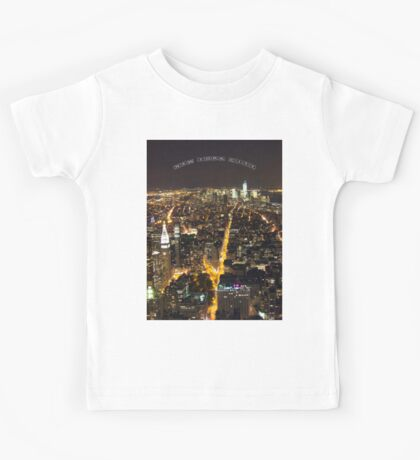 Downtown Manhattan At Night Kids Tee
