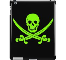 Pirate Flag Skull and Crossed Swords by Chillee Wilson iPad Case/Skin