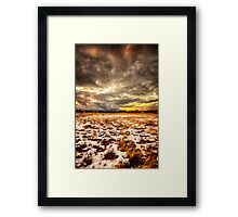 Snow and Clouds Sunset Framed Print