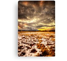Snow and Clouds Sunset Canvas Print