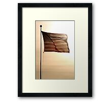Waving In The Sunset Framed Print