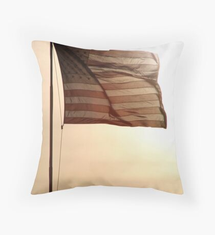Waving In The Sunset Throw Pillow