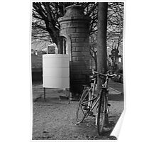 Bicycle and urinal Poster