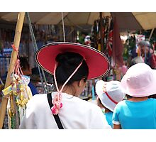 Shan lady in hat Photographic Print