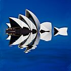Abstract of Sydney Opera House by Sheila  Smart