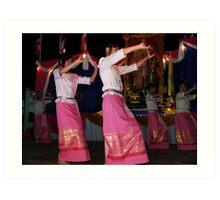 Shan girls dancing Art Print