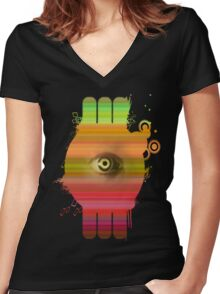 Minds Eye Women's Fitted V-Neck T-Shirt