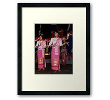 Shan girls dancing - 2 Framed Print