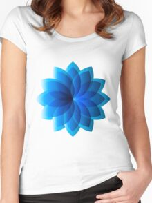 Abstract Digital Star Women's Fitted Scoop T-Shirt