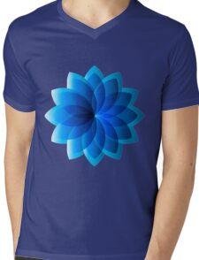 Abstract Digital Star Mens V-Neck T-Shirt