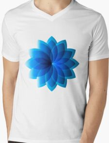 Abstract Digital Star Mens V-Neck T-Shirt