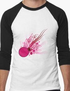 Abstract Digital Pink Bubbles Men's Baseball ¾ T-Shirt