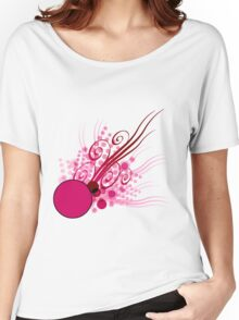 Abstract Digital Pink Bubbles Women's Relaxed Fit T-Shirt