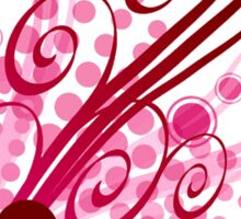 Abstract Digital Pink Bubbles Sticker