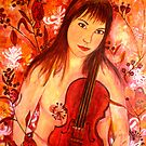 "Girl and her Violin by Belinda ""BillyLee"" NYE (Printmaker)"