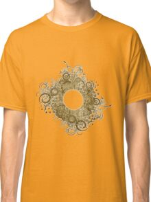 Abstract Digital Baroque Swirls Classic T-Shirt