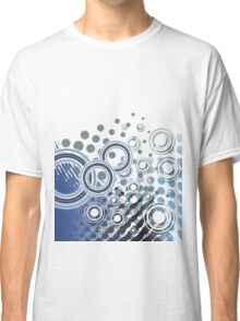 Abstract Digital Blue Bubbles Classic T-Shirt